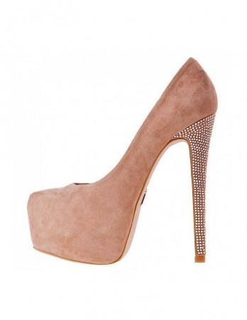 Pantofi Diva nude