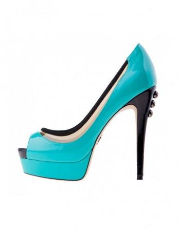 Pantofi Ella azur