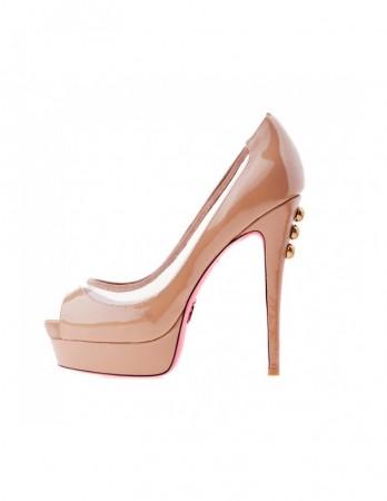 Pantofi Ella nude