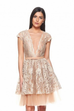 Rochie Ana Radu Golden Princess Cream