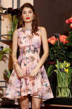 Rochie Artista Flower Joy Peach