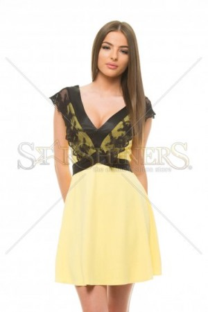Rochie Artista Vulnerable Lace Yellow