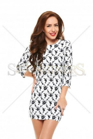 Rochie Different Drawing White