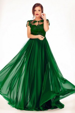 Rochie Fame Illusion Green