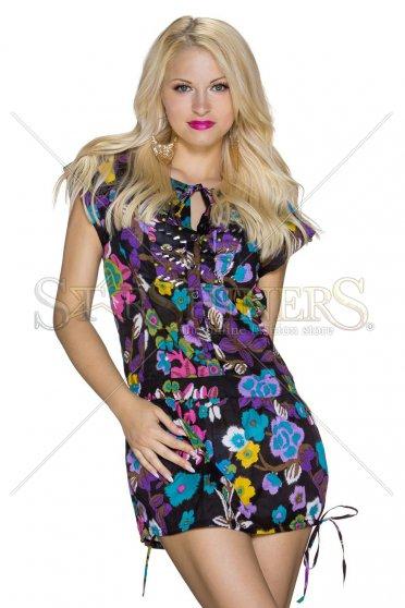 Rochie Floral Attitude Black
