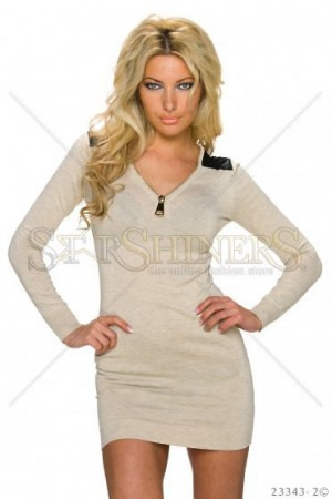 Rochie Impressive Combination Cream
