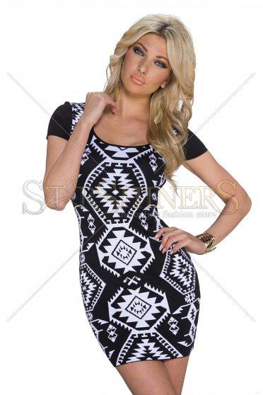 Rochie Knitted Plot Black