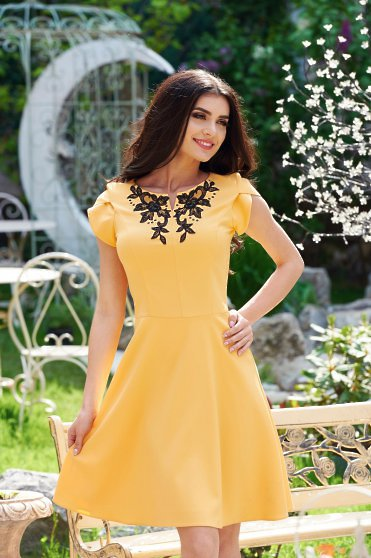 Rochie LaDonna Classy Style Yellow