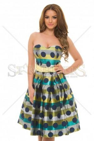 Rochie LaDonna Dots Modesty Green