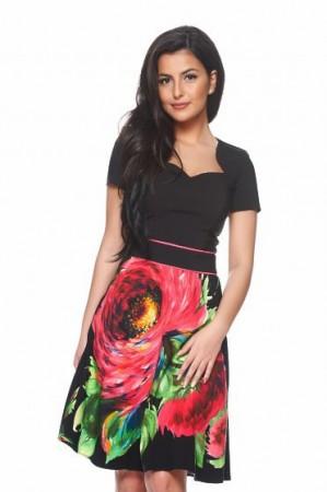 Rochie LaDonna Enjoy Flower Black