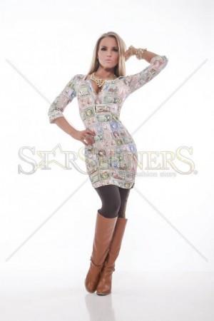 Rochie MissQ Glorious Faces Cream