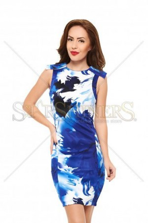 Rochie Painted Print Blue