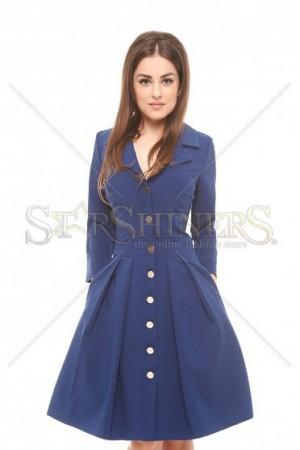 Rochie PrettyGirl Lady Chic Blue