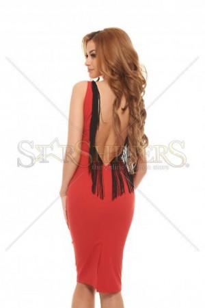 Rochie PrettyGirl Luxuriant Red