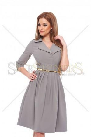 Rochie PrettyGirl Modern Look Grey