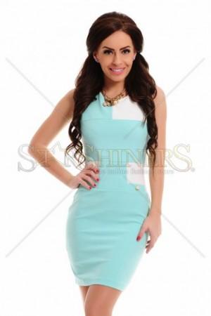 Rochie PrettyGirl Squared Turquoise
