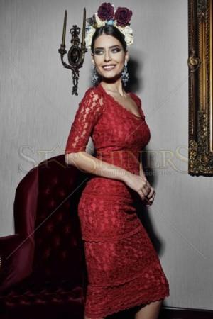 Rochie PrettyGirl Unfailing Red