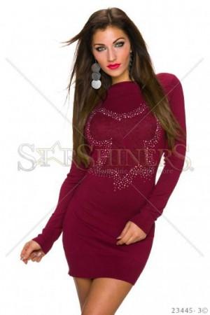 Rochie Sparkle Burgundy