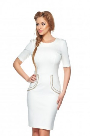 Rochie StarShinerS Aristocratic Look White