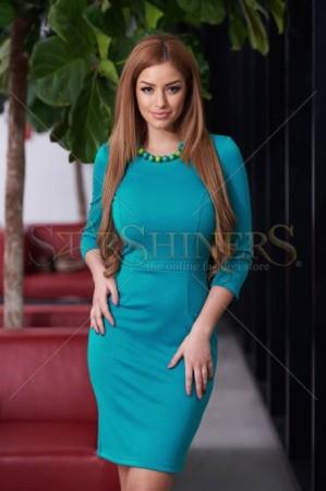 Rochie StarShinerS Basic Joy Turquoise