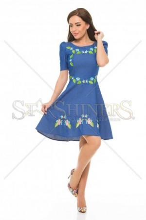 Rochie StarShinerS Brodata Brasil Blue