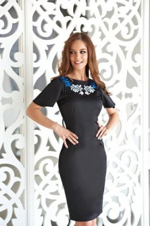 Rochie StarShinerS Brodata Mystic Line Delightful Diva Black