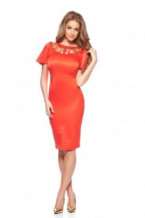 Rochie StarShinerS Brodata Mystic Line Delightful Diva Coral