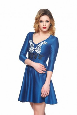 Rochie StarShinerS Brodata Mystic Line Fantastic Look Blue