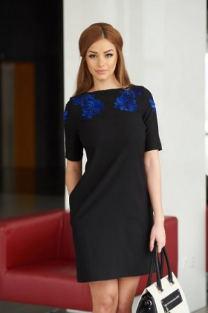 Rochie StarShinerS Brodata Mystic Line Luxurious Event Black