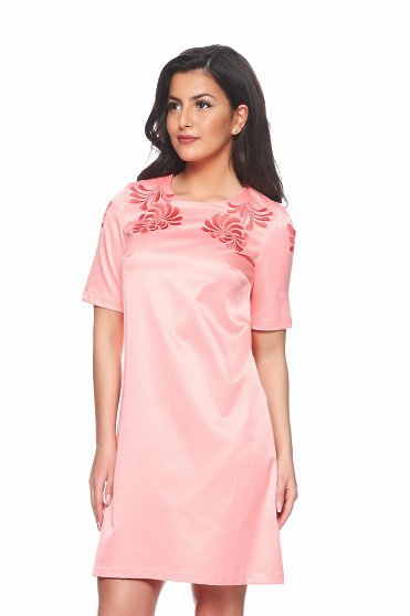 Rochie StarShinerS Brodata Mystic Line Luxurious Event Rosa
