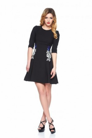 Rochie StarShinerS Brodata Mystic Line Special Black