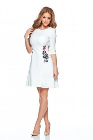 Rochie StarShinerS Brodata Mystic Line Special White