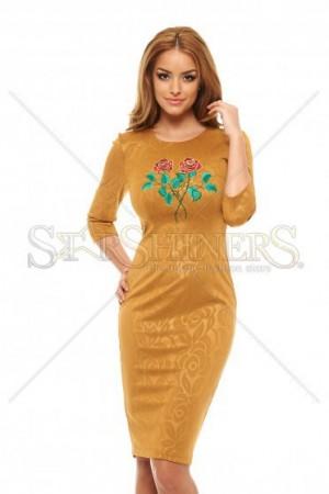 Rochie StarShinerS Brodata Rose Charm Gold