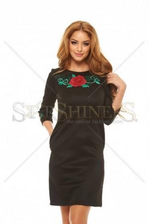 Rochie StarShinerS Brodata Rose Dream Black