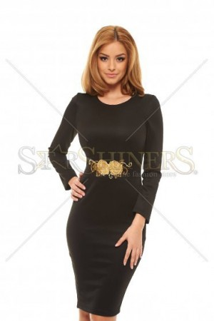 Rochie StarShinerS Brodata Rose Obsession Black