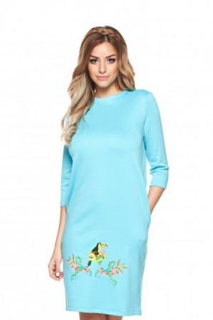 Rochie StarShinerS Brodata Safari Blue