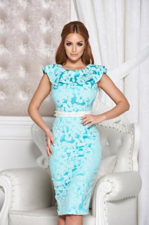 Rochie StarShinerS Distinctive Look Turquoise
