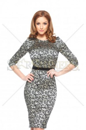 Rochie StarShinerS Embraced Gold