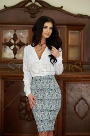 Rochie StarShinerS Fashion Choice White