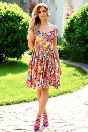 Rochie StarShinerS Flower Girl Green