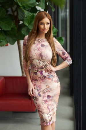 Rochie StarShinerS Perfect Bouquet Rosa