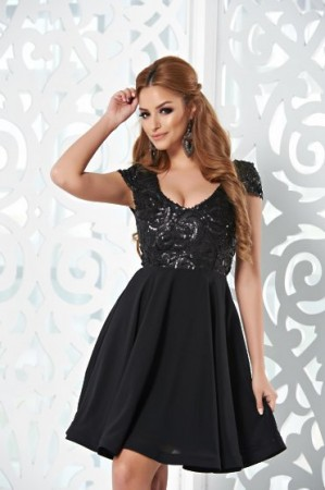 Rochie StarShinerS Sparkle Charms Black