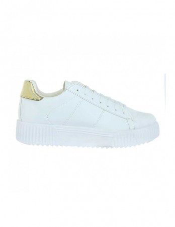 Sneakers Soju alb auriu
