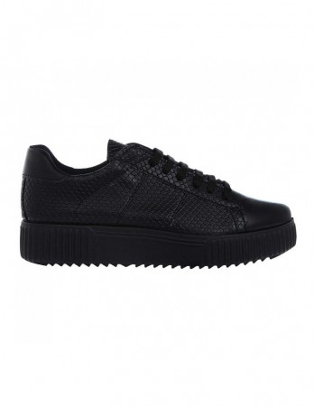 Sneakersi Soju negri cu imprimeu piton